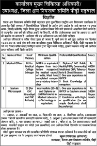 Medical-Officer-Lab-Technician-Recruitment-in-Pauri-Garhwal