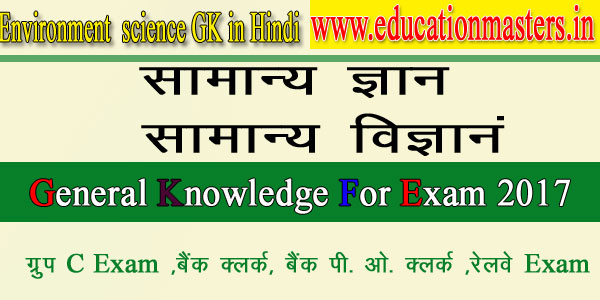 Environment gk notes in hindi