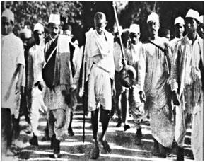 Gandhi on dandi march-12 march 1930