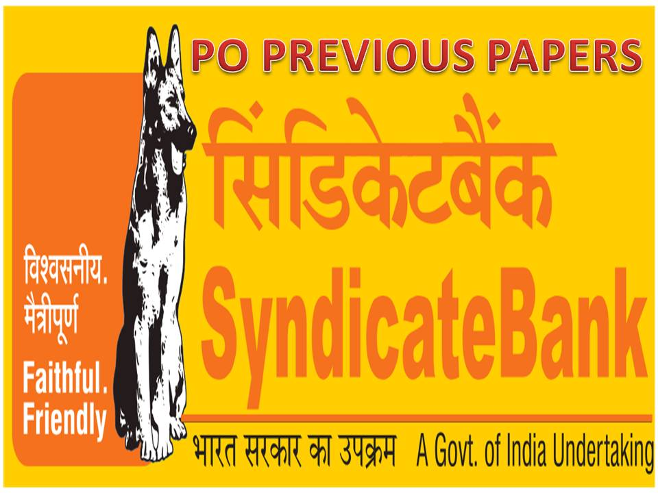 SyndicatebankPOPapers