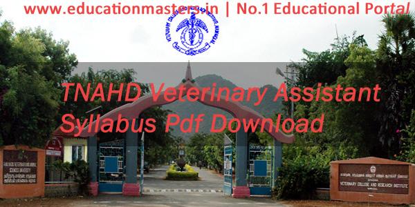 TNAHD-Veterinary-Syllabus-